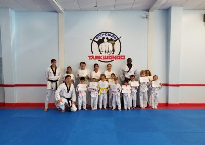 Little Dragon Taekwondo Belt Test with coaches