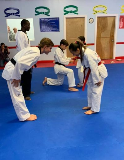 Taekwondo Adult Class Belt test