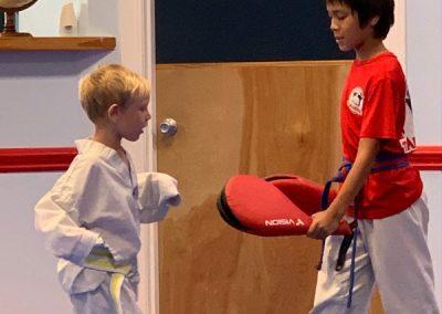 Taekwondo Afterschool Class kicking