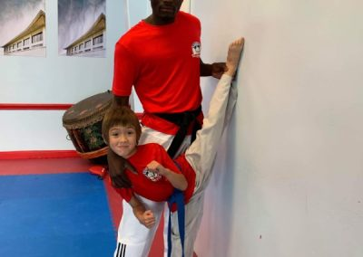 Taekwondo Afterschool Class stretching