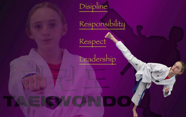 Girl doing Taekwondo post