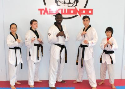 Taekwondo black belt team